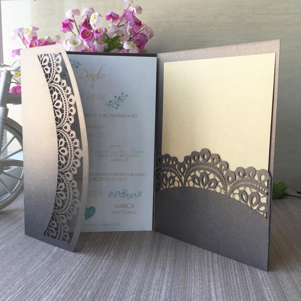 50pcs laser cut pearlescent paper flower tri folded