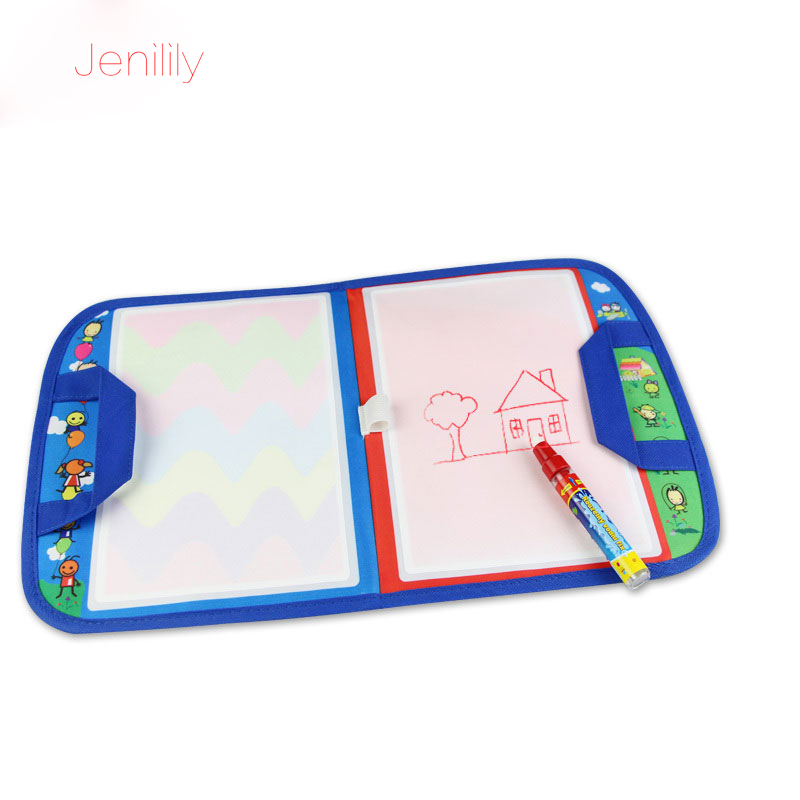Reusable Non-toxic Magic Water Drawing Board With Magic Pen Painting Doodle  Drawing Mat Educational Travel Toys For Children