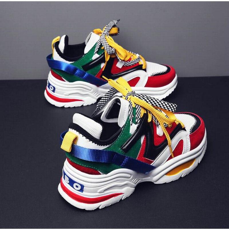 Размеры 35 44; женские модные повседневные кроссовки на толстой подошве со шнуровкой на платформе; высококачественные кроссовки для влюбленных; LH 18