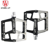 WHEEL UP Road Mountain Bike Pedal Aluminum Alloy 4 Bearings Sealed Bearing Pedals Anti Slip Waterproof