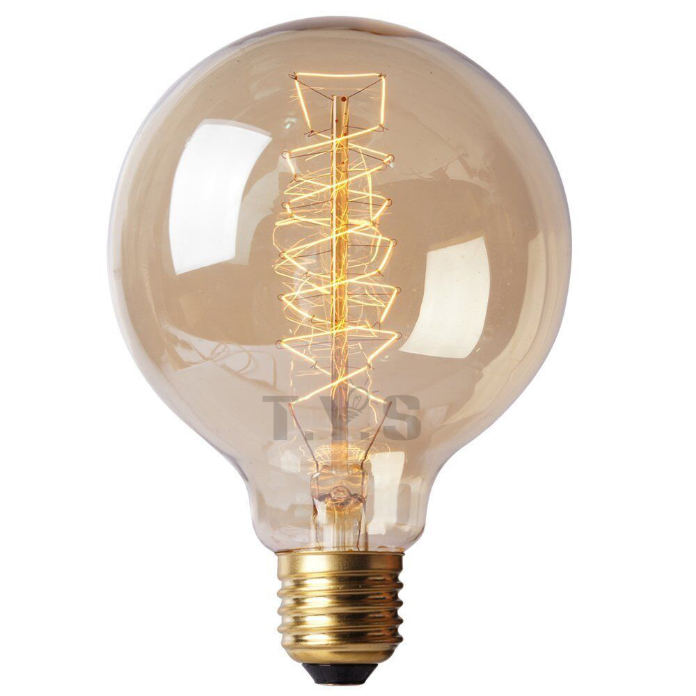 Vintage Edison Bulb Retro Lamp G80 G95 G125 40W Incandescent Light Bulb DIY l...