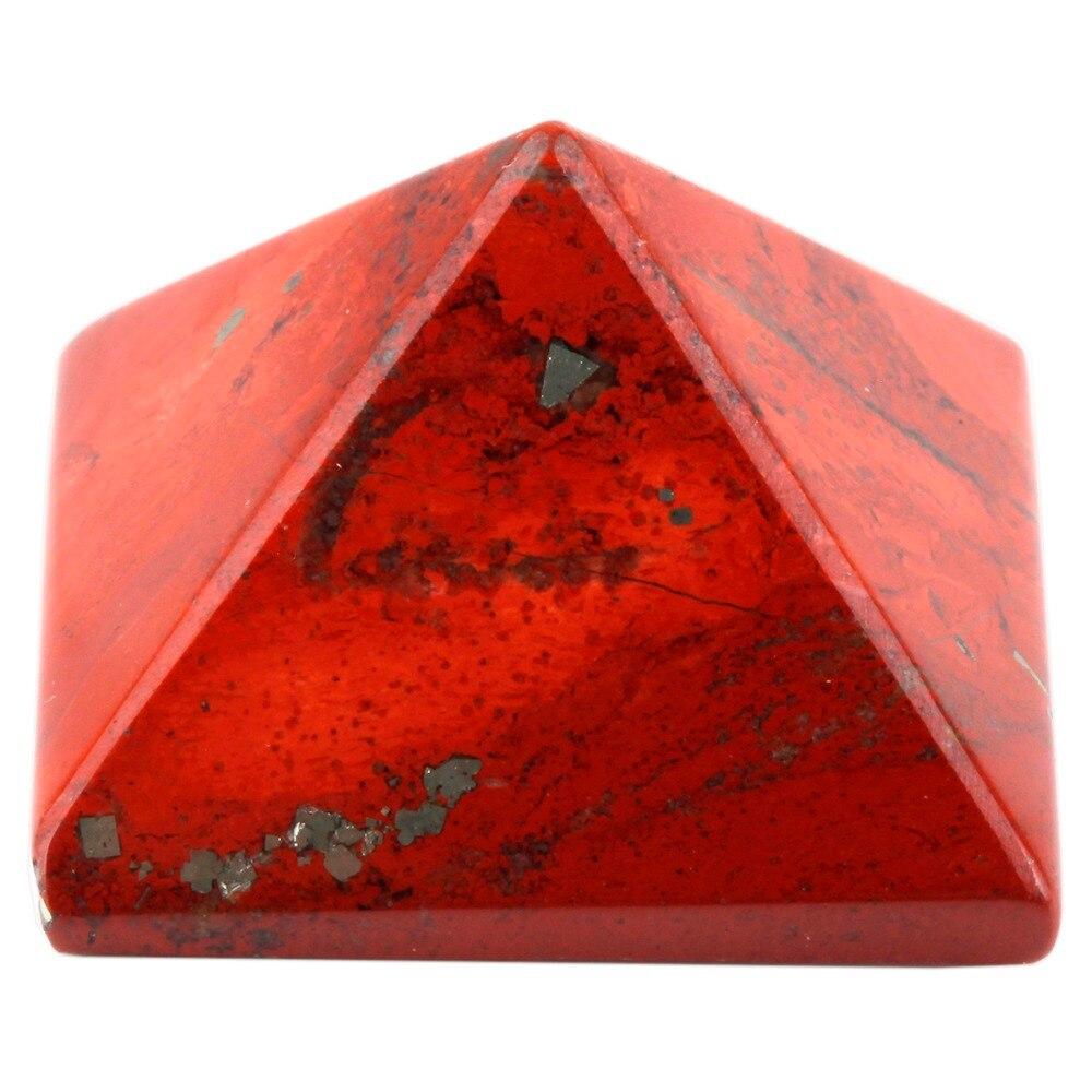 ٩(^‿^)۶Sunyik jaspe rojo pirámide Healing Reiki estatuilla ...