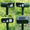 Ultrasonic Solar Power Dog Cat Repeller Eco Friendly LED PIR Motion Animal Deterrent Fox Mouse Useful