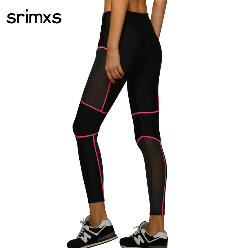 Prix pour Srimxs femmes sport collants yoga pantalons femmes fitness sexy yoga leggings élastique courir pantalon femmes mesh sport gym femmes vêtements
