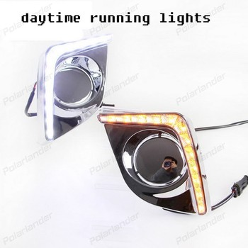 For T/oyota L/evin 2014 2015 2 pcs/set auto part DRL High brightness car styling guide led fog lamps daytime running light