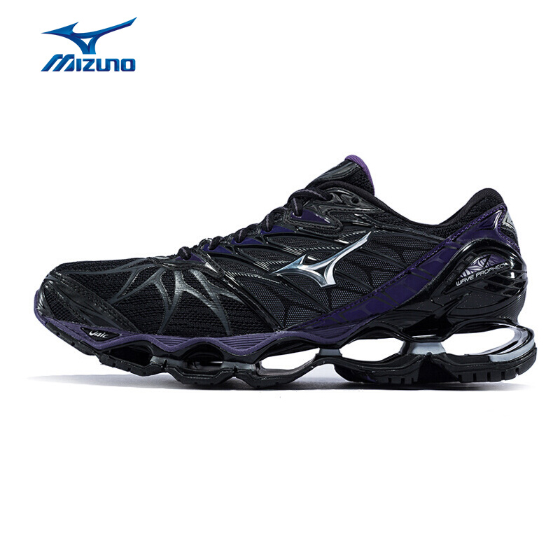MIZUNO Women  PROPHECY 7 Professional Running Shoes Cushion Wearable Sports Shoes Breathable Sneakers J1GD180004 XYP614 mizuno men rebula v3 ag professional cushion soccer shoes sports shoes comfort wide sneakers p1ga178603 yxz069