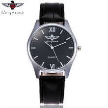 SHANGMEIMK Brand Watches Men Luxury Fashion Business Clock Leather Strap Quartz Male Wristwatches Gift Relogio Masculino(China)