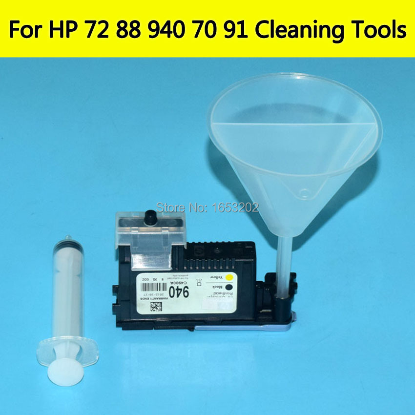 1 Set Printhead Cleaner Tools Kit V2 For HP 88 940 70 72 Nozzle Print Head For HP Officjet K550 5400 7580 7680 K7780 100ml unblock print head nozzle for epson for brother for canon for dell for hp printer cleaner cleaning kit 100ml