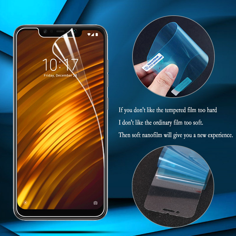 Nano Explosion-proof Film For Xiaomi Mi A1 8 SE Lite 5X 6 5S Plus Screen Protector For Mi Max 2 3 Mix 2S (Not Tempered Glass)