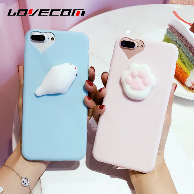 Squishy Cat Phone Case Iphone Se : ?LOVECOM Phone Case ? o_o ? For For iPhone 5 5S SE 6 6S ? 7 7 Plus 3D Funny Squishy Toys ...