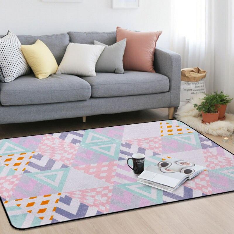 Personnalité pastorale tapis mosaïque chambre d'enfants tapis rose salon chambre chevet tapis table basse tapis de sol bébé maison tapete - 2
