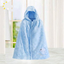 2016 autumn and winter coat thick flannel hooded shawl child infant Cape Cloak wrapped wholesale baby sleeping bag winter