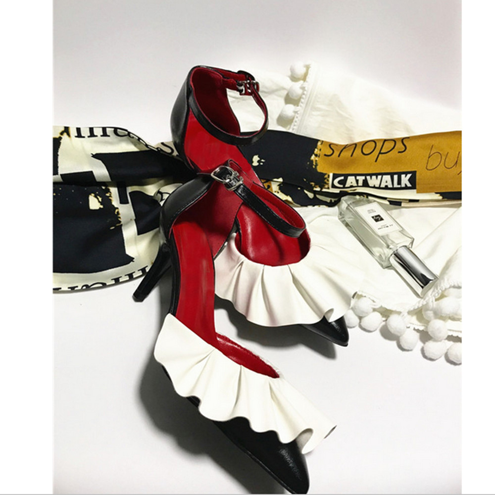 Femmes Zapatillas Picture Respirant Casual Talons En Sangle Marque Bout Dames Mujer Femme Chaussures Appartements Boucle As Cuir Pointu Hauts wZUPZ1