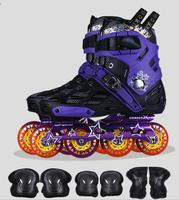 1f38b8e3da3 High Quality 4 Wheels Skate Roselle Inline Skates Professional Slalom Adult  Roller Skating Shoes Sliding Free