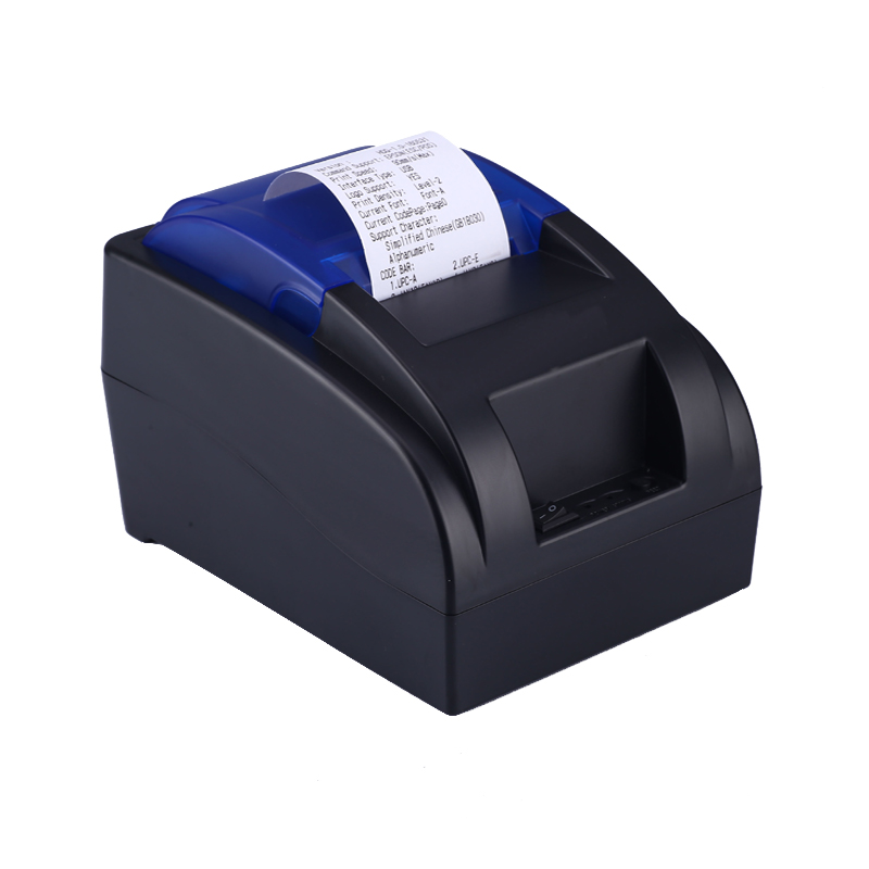 Quality economic receipt 58mm pos thermal printer built in power supply newest bill printing machine support