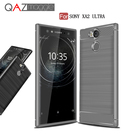 QAZ Maggie Case for Sony Xperia XA2 Ultra Cover Silicone Soft TPU Brushed Carbon Fiber Texture Cover sFor Sony XA2 Ultra Case