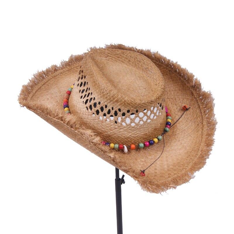 6cd60ec3aea Fashion Men jazz hat Cowboys Straw Hats Best Mens Western Nature Raffia  Straw Hat New Women Cowgirls roll up Summer Sun Caps-in Men s Sun Hats from  Apparel ...