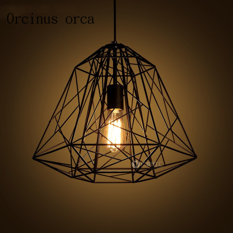 American style Nordic iron cage chandelier cafe restaurant retro originality industrial wind Chandelier free shippingAmerican style Nordic iron cage chandelier cafe restaurant retro originality industrial wind Chandelier free shipping