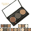 2 Colors Eyebrow Powder + 1 Color Eyebrow Eyeshadow Cream Makeup Palette With Brush Long Lasting Waterproof Sweatproof Cosmetics