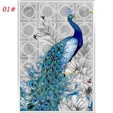 DIY 5D Peacock Diamond Switch Kit Embroidery Painting Mosaic Needlework Cross Stitch Home Decor Craft  32*45cm