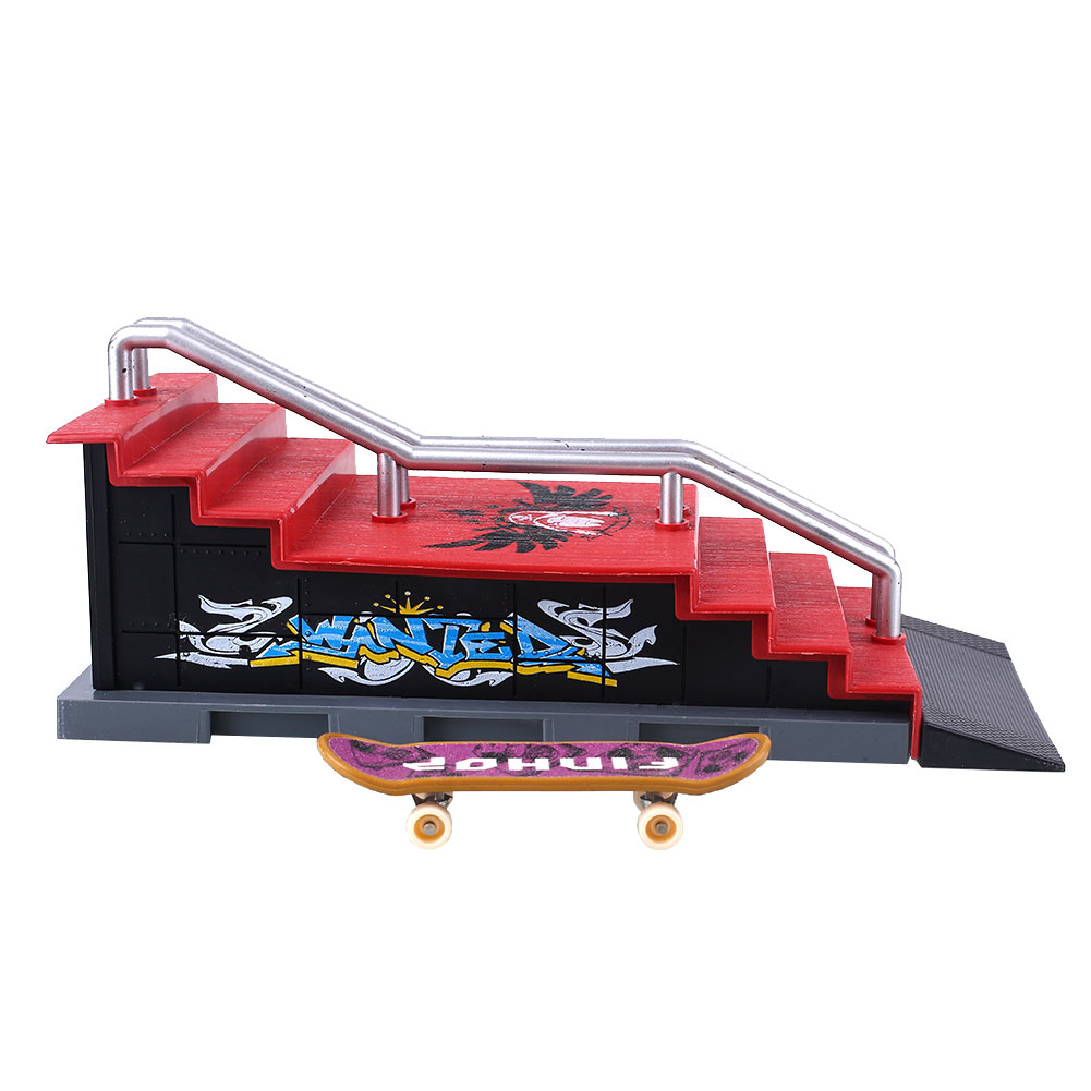 Alloy Skateboard Figures Games Set Sports Toys Colorful Plastic Operation Safe