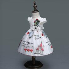 Детское платье для девочек с цветочным дизайном первого дня