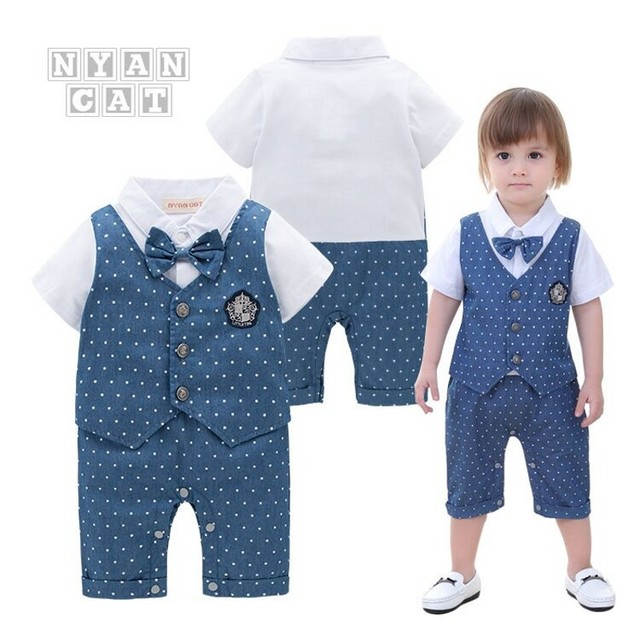 10850e7f9414 Nyan Cat Baby boy clothes romper summer short sleeves white dot ...