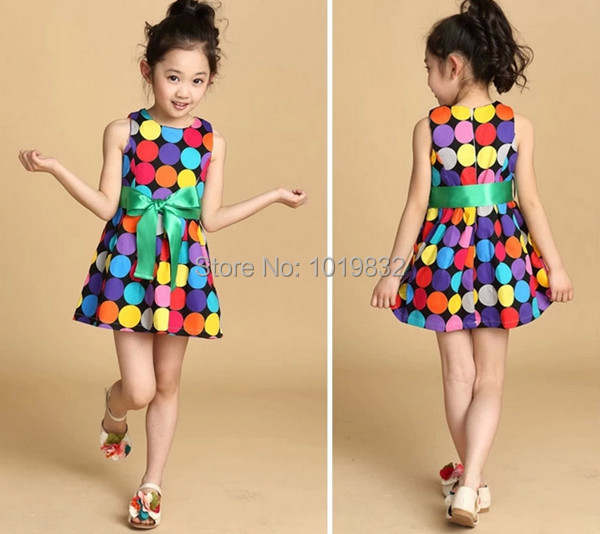 40fe71f17836b US $8.16 5% OFF 2014 Hottest Baby Girl Summer Dress,Colorful Polka Dot  Dress,Girl Princess Party Dress,Kids Dress-in Dresses from Mother & Kids on  ...