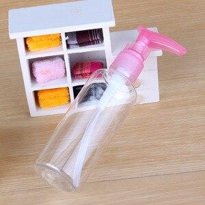 Image 1 - Butelka wielokrotnego napełniania Protable 75 ML/100 ML mydło szampon balsam pianka woda plastikowa tłoczona pompa butelka z rozpylaczem butelka wielokrotnego napełniania