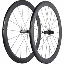 Carbon Wheel Set Racing Bicycle Carbon Wheels Clincher 50mm Carbon Road Wheelset Matte/Glossy Bike Wheel(China)