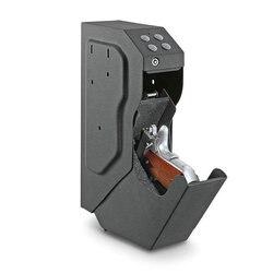 Caja de Seguridad para armas, caja de seguridad con combinación de contraseña, caja de seguridad de código Digital con llave de seguridad, caja fuerte de acero de alta calidad