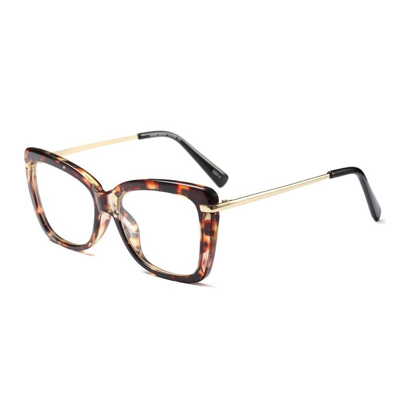504a3fb6c النساء سيقان معدنية مصمم البصرية النظارات الطبية خلات حافة نظارات للنساء  نظارات نظارات إطار أنماط الموضة