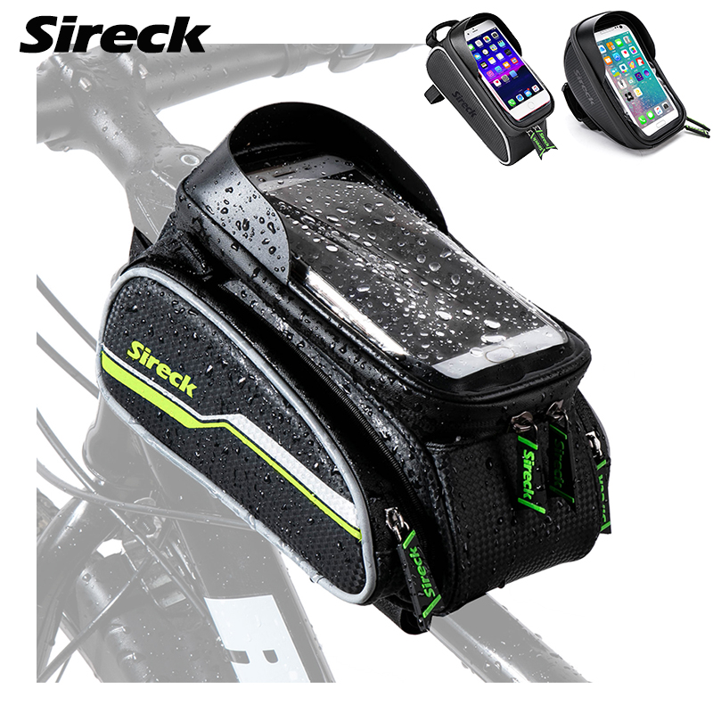 Sireck Waterproof Bike Phone Holder 6.0 inch Bicycle Phone Mount Stand Cycling Handlebar Smart Mobile GPS Stand Support|Bicycle Rack|   -