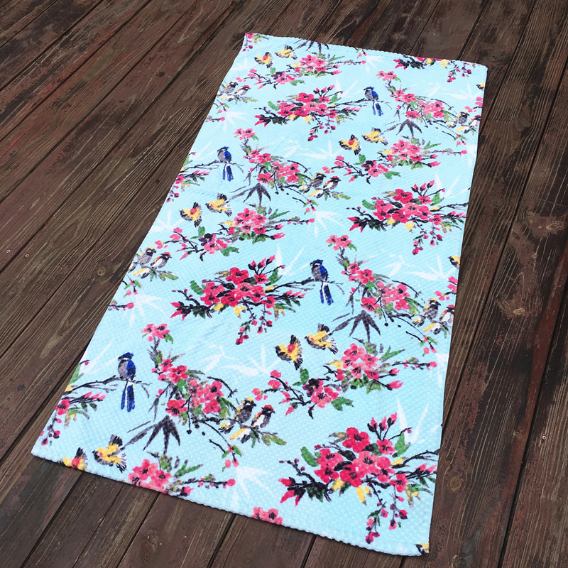 New Summer Large Cotton Best Quality Beach Towels Flower