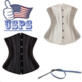 Ladies Steampunk Corset Gothic Bustier Bodysuit Underwear Waist Cincher Sexy Underbust Plus Size S-6XL Ship From USA