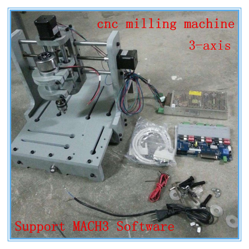 3 Axis T-type Screw Router Woodwork Machines Small Cnc Milling Engraving Machine 2030 Pvc Diy Support Mach3 Software small cnc engraving machine 2030 pvc diy cnc computer learning machine mach3 3 axis