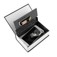 1pcs Steel Simulation Dictionary Secret Book Safe Money Box Case Money Jewelry Storage Box Security Key