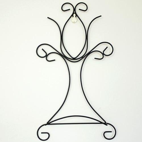 Wrought iron decorative metal easels <font><b>plate</b></font> <font><b>wall</b></font> holder home decoration storage display rack