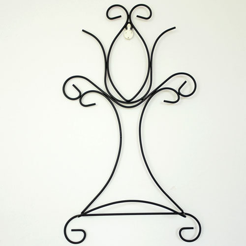Wrought iron decorative metal easels plate wall holder home decoration storage display rack