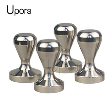 Silver Espresso Tamper 49mm 51mm 57.5mm 304 Stainless Steel Coffee Tamper Wood Handle Coffee Press Barista Tools