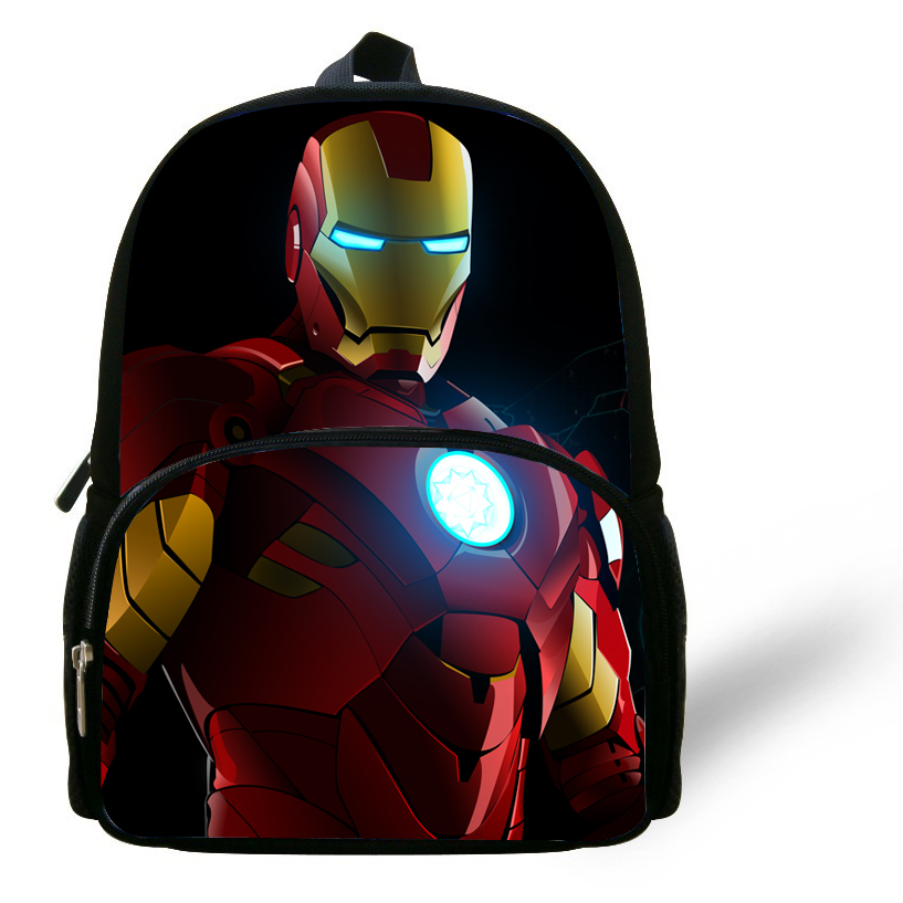 23893af6ef70 Cool 12-inch Kids School Bags For Boys 2014 Cool Iron Man Backpack Children  Bag