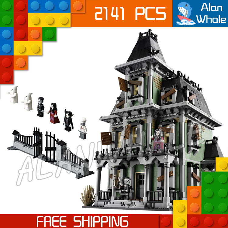 2141pcs New Monster Fighters Haunted House 16007 DIY Model Building Blocks Kit Playset Children Gifts Toys Compatible with Lego 890pcs new ninja lair invasion diy 10278 model building kit blocks children teenager toys brick movie games compatible with lego