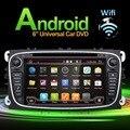 2 Din Android 4.4 Автомобиль dvd gps плеер автомобиля стерео радио для Ford Mondeo Focus встроенный в GPS КАМЕРА ПАРКОВКИ + wi-fi + Bluetooth + USB + SD