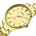 Longbo relógio de quartzo amantes de relógios dos homens das mulheres casal relógios analógicos relógios de pulso de couro moda casual relógios de ouro 1/pcs 80229