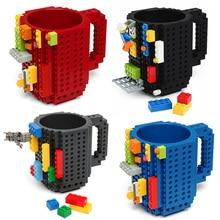 1 Piezas de Construcción de Ladrillo Taza Tazas de Café DIY Bloques Del Rompecabezas Bloques de Construcción Lego Tipo Taza 12 oz de Alta calidad de la Cocina Herramientas Drinkware
