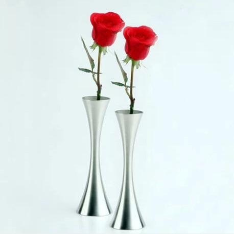 European style curved waist fashion metal home decor vase stainless steel modern flower vase