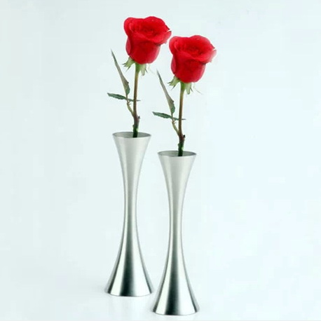 European Style Curved Waist Fashion Metal Home Decor Vase