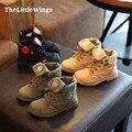 Moda outono 2016 new kids shoes chaussure meninos meninas da escola alta para ajudar antiderrapante canvas casual shoes estilo europeu legal