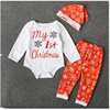 Baby Clothing Sets Autumn Baby Boys Girls Clothes Long Sleeve Romper Pants Hats 3Pcs Christmas Fall