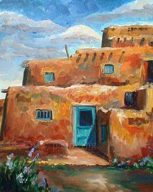 Handmade Modern Abstract Architecture Art Acrylic Picture ...